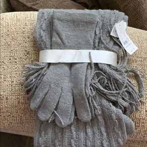Scarf and gloves set. Never worn with tags.